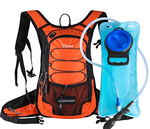 Dtown Running Water Backpack Hydration Bag with 2L 70oz Drinking Reservoir for Outdoor Sport Run Training,Lightweight Insulated Water Backpack ()
