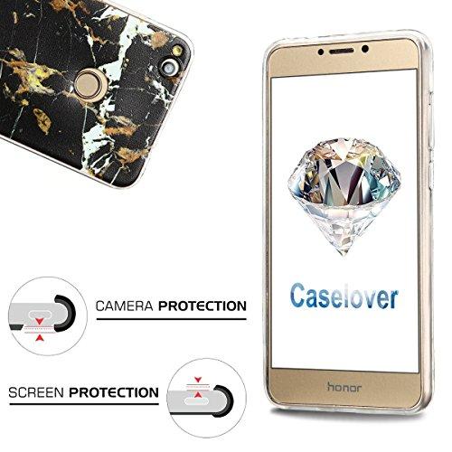 Funda Huawei P8 Lite 2017, CaseLover Carcasa Transparente Suave Silicona TPU para Huawei P8 Lite 2017 (5.2 Pulgadas) Ultra Delgado Flexible Gel Protectora Cubierta Resistente a los Arañazos Tapa Liger Mármol