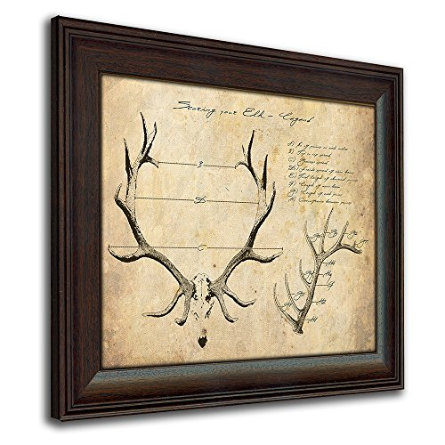 Elk Big Game Scoring Print