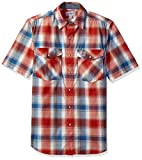Carhartt Men's Rugged Flex Bozeman Short Sleeve Shirt, Chili, Large