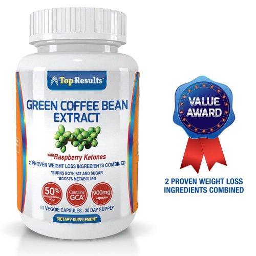 Pure Green Coffee Bean Extrait 800mg Pilules, GCA ® (50% d'acide chlorogénique) majoré des cétones de framboise - Dr Oz recommandé des ingrédients organiques naturels - Ultra Quick Weight Loss Supplements - Perdre du poids avec force Fat Diet Pills Burner