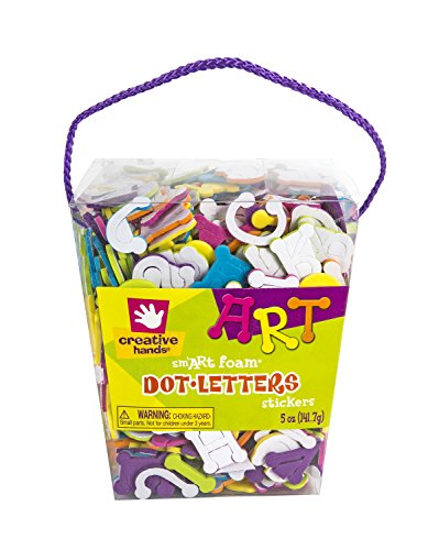 Creative Hands Foam Stickers, Dot Letters, 5 oz