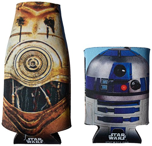 ICUP Star Wars Droids Bottle and Can (2 Pack), Clear