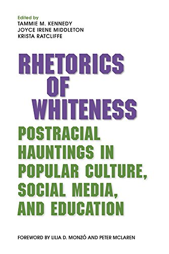 Book cover from Rhetorics of Whiteness: Postracial Hauntings in Popular Culture, Social Media, and Education by Peter Grant