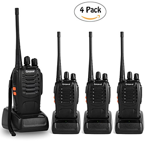 Buy Discount Greaval Walkie Talkies 4 Pack Long Range 2 Way Radio Handheld 16-CH Two Way Radios (Pac...