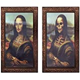 IronBuddy Halloween 3D Photo Frame Changing Face Frame Halloween Decoration Horror Ghost Picture Frame 3D Ghost Craft Fits for Home Bar Halloween Party Decoration (14.9x9.8 Inch)