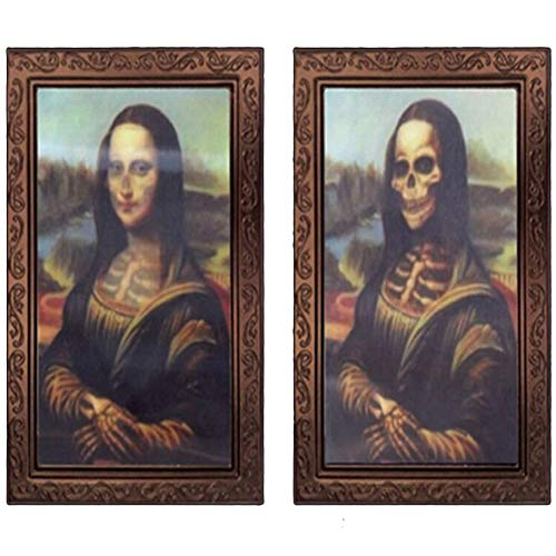 IronBuddy Halloween 3D Photo Frame Changing Face Frame Halloween Decoration Horror Ghost Picture Frame 3D Ghost Craft Fits for Home Bar Halloween Party Decoration (14.9x9.8 Inch) ()