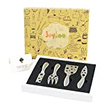Joymee 4-Piece Stainless Steel Cheese Knife Set with Handle