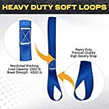 Soft Loop Tie Down Straps - 1,500 Load Capacity
