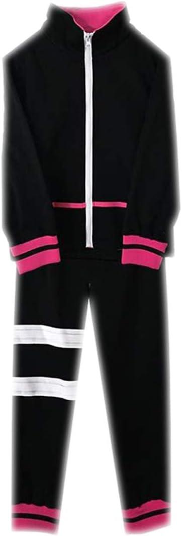 ZY Baile De Disfraces De La Manera del Partido De Cosplay del Traje del Anime Pantalones Chaqueta del Traje,Black-M