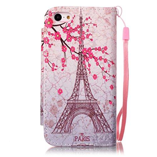 Trumpshop Smartphone Carcasa Funda Protección para Apple iPhone 6/6s Plus 5.5 + Hadas + PU Cuero Caja Protector con Ranuras para Tarjetas Choque Absorción Torre Eiffel