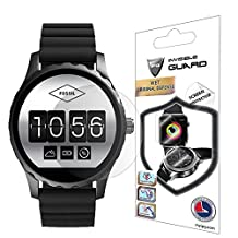 Fossil Q Marshal Screen Protector (2 Units) Invisible Ultra HD Clear Film Anti Scratch Skin Guard - Smooth / Self-Healing / Bubble -Free By IPG