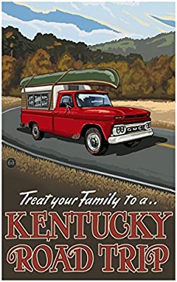Kentucky Pickup Road Trip Travel Art Print Poster by {Artist.FullName} ({OutputSize.ShortDimensions})