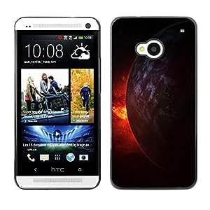 YiPhone /// Prima de resorte delgada de la cubierta del caso de Shell Armor - Space Planet Galaxy Stars 9 - HTC One M7