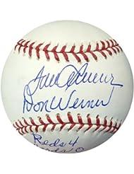 Tom Seaver  amp; Don Werner Signed Official MLB Baseball Reds No Hitter Reds 4 Cards 0 - PSA DNA Aut