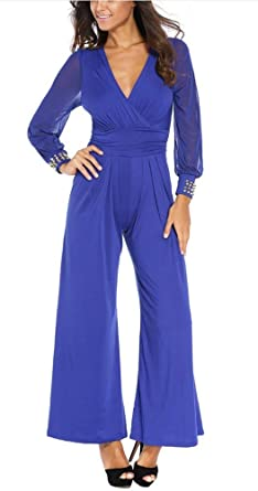 Mono Mujer Primavera Otoño Overall Pantalon Largo Anchos Fashion ...