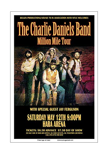 Raw Sugar Art Studio Charlie Daniels Band 1979 Dayton Concert - Charlie Band