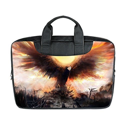 JIUDUIDODO Best Present Special Majestic-looking Eagle Pattern 15.6 Inch Laptop Nylon Waterproof Hand Shoulder Bag(Twin (Different Spiderman Costumes)