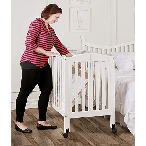 Dream On 2 in Stationary Side Crib, White