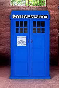 The King's Bay Blue English Police Call Box Doctor Dr. Who Tardis Phone Booth Full Size KD