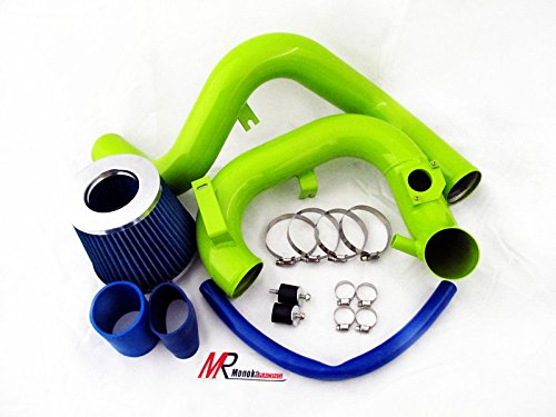 Air Intake Accessory (04 05 06 Scion xA xB bB 1.5L L4 Green Piping Cold Air Intake System Kit with Blue Filter)