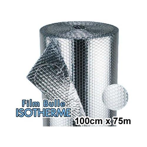 1 Rouleau de film bulle d'air ISOTHERME 100cm x 75m