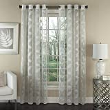Lorraine Home Fashions Avery Window Curtain Panel, 53 inch x 95 inch, Ivory