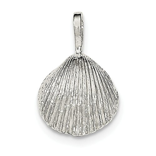 - Diamond2Deal 925 Sterling Silver Polished Shell Chain Slide Pendant