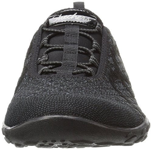 Skechers Sport Women's Breathe Easy Fortune Fashion Sneaker,Black Knit,5.5 M US