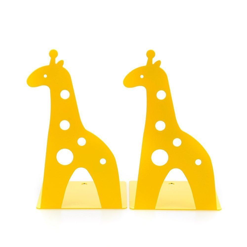 Cute Giraff Nonskid Children Bookends (Yellow)