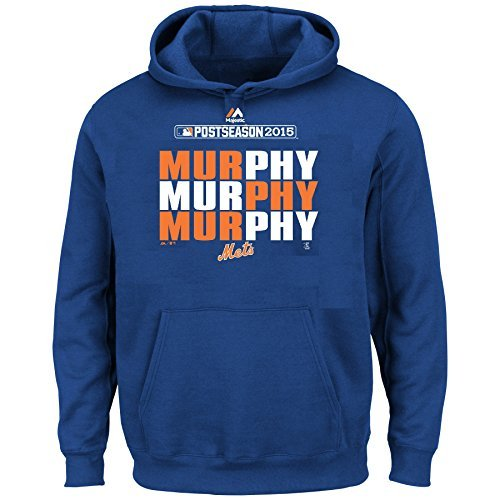 Majestic Daniel Murphy New York Mets MLB Youth Pullover Hooded Fleece (Youth XLarge 18/20) ()