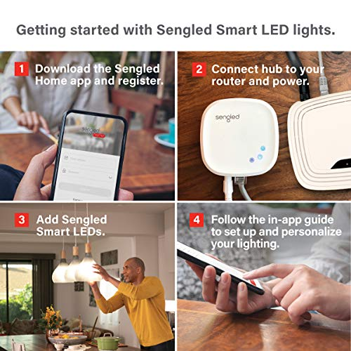 Sengled Smart Hub, For Use with Sengled Smart Products, Compatible with Alexa and Google Assistant
