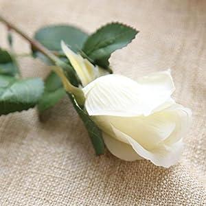 YJYdada 6 Pcs Pretty DIY Artificial Silk Fake Flowers Rose Floral Wedding Home Decor 2