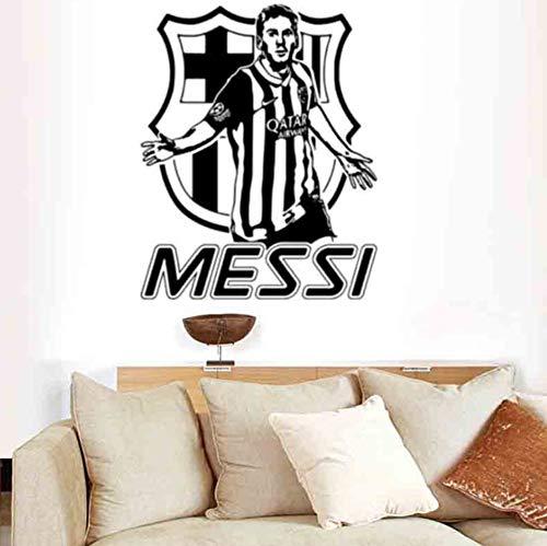 sansiwu Q PVC Carved Football Sports Star Living Room Bedroom Wall Sticker