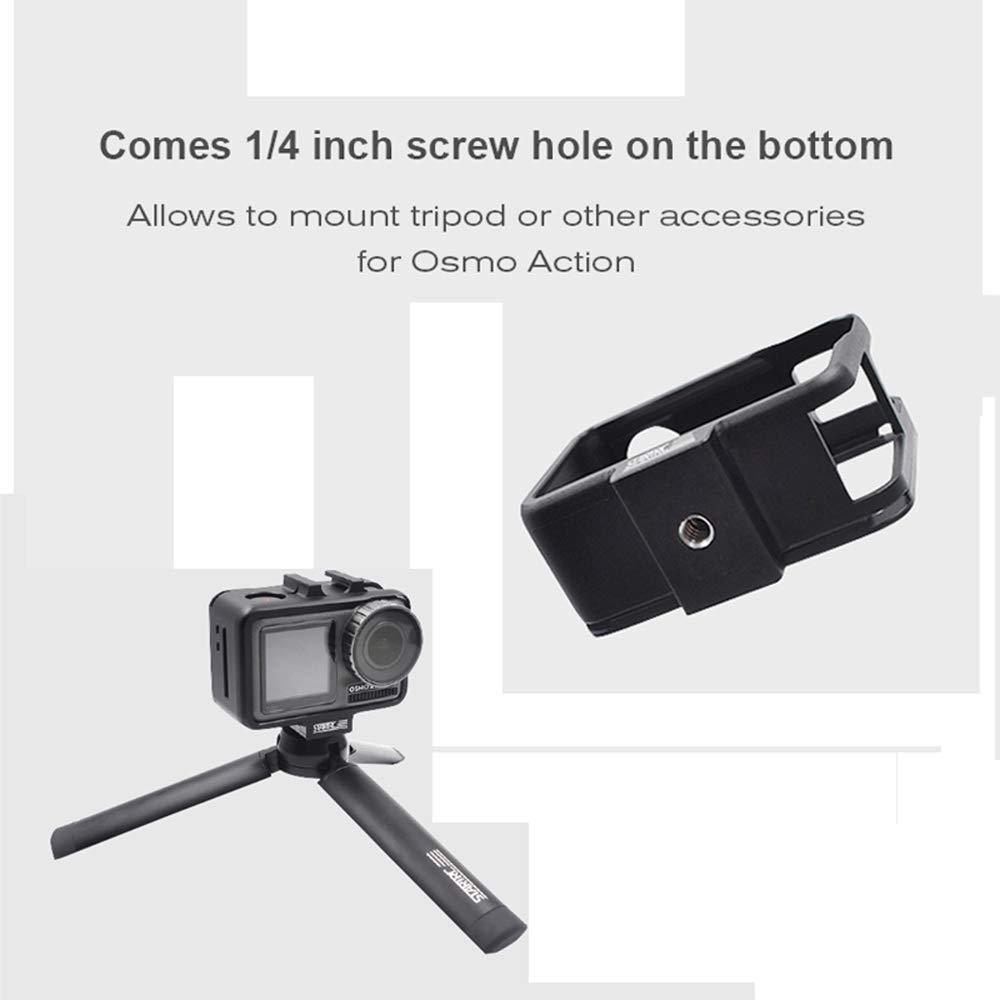 Linghuang OSMO Action Kamera CNC Aluminium Rahmen Geh/äuse Grenze Schutzh/ülle Fall Zubeh/ör f/ür DJI OSMO Action