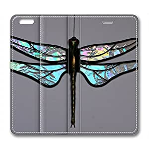 Vintage Dragonfly DIY Leather iphone 6 plus Case Perfect By Custom Service