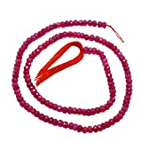 Silvestoo jaipur Ruby (Indian) 3 mm Roundel Micro Faceted Beades Strings PG-121996