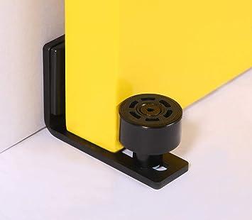 Ajustable Guide De Plancher Mur Porte Guide Inférieur Pour Porte En Bois Coulissante Noir