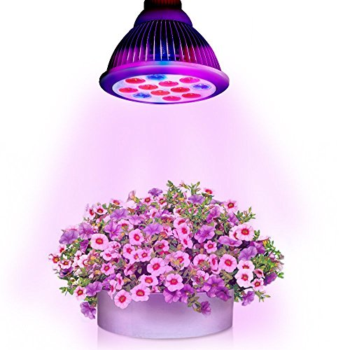 Litom Latest 36W LED Plant Growing Lights, E27 Bulbs for Indoor Garden Greenhouse Hydroponic Lamps