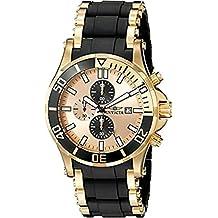 Invicta Men's 1478 Sea Spider Chronograph Gold Dial Black Polyurethane Watch