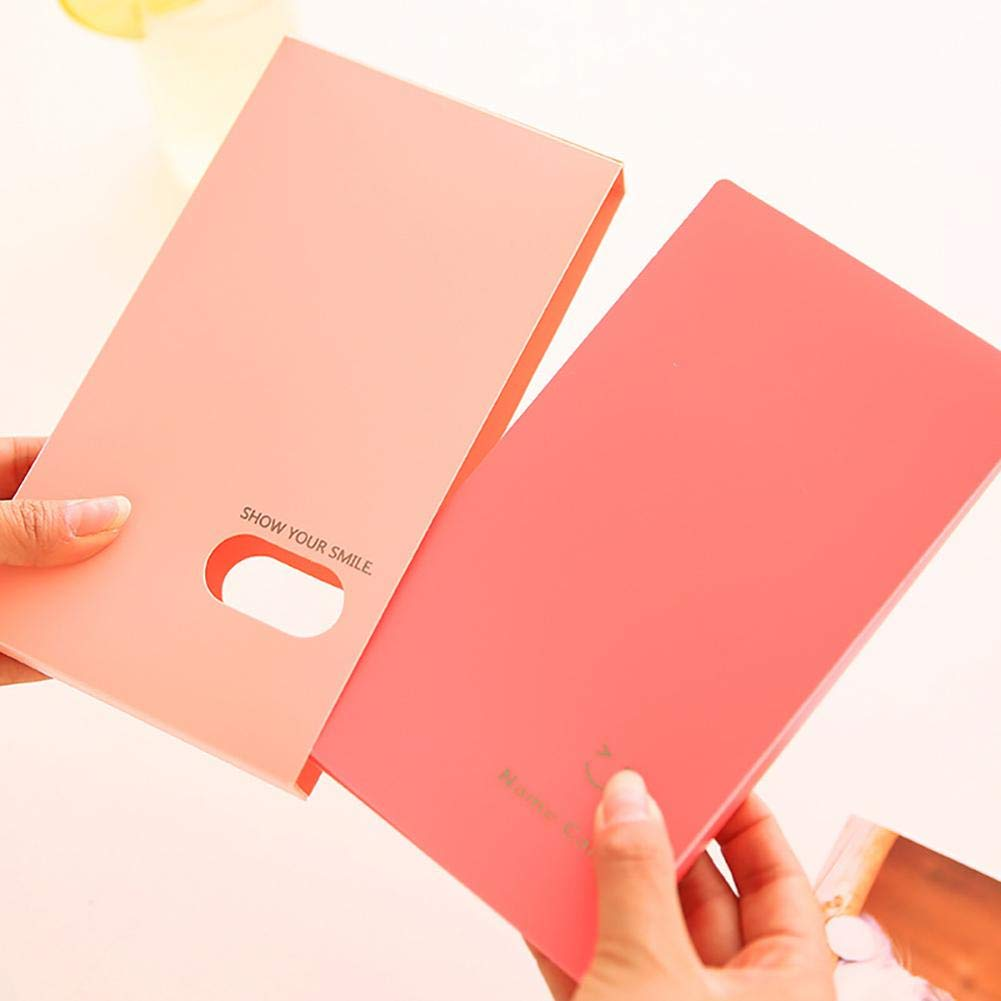 Baiansy New Portable 120 Pocket Album Photo Business Card Card ID Holder Student Office Business Card