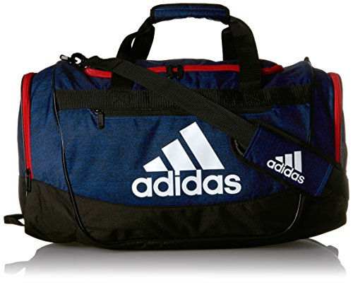 adidas Defender III Medium Duffel, Collegiate Royal Blue Jersey/Scarlet/Black/White, One Size