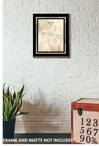 amazon com jalaluddin rumi light 11 x 14 unframed typography