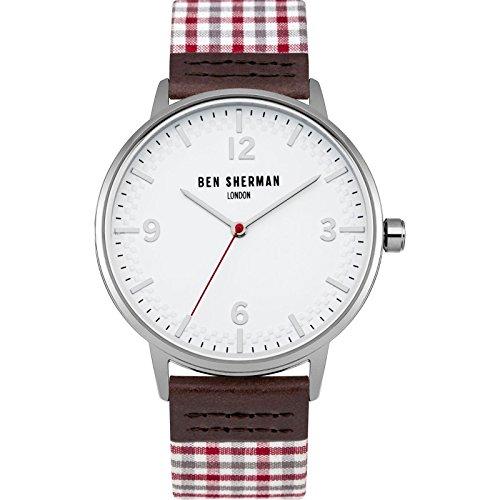 Ben Sherman Men's Quartz Metal and Nylon Casual WatchMulti Color (Model: - Ben Sherman Glasses