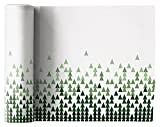 MYdrap SLA20N1/101-7 Linen Printed Luncheon Napkin, 8.0'' x 8.0''-12 units per roll, X-Mas Tree