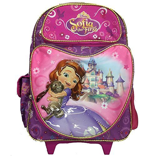 Rolling Friends Backpack (Disney Large Rolling Backpack Sofia The First Sweet Friends New 635879)