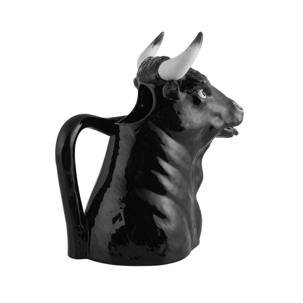 Bordallo Pinheiro Bull Pitcher, 50 Ounces