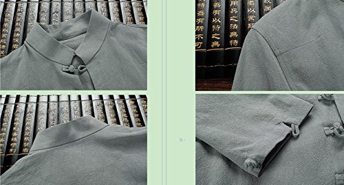 Tang Suit National Costume Retro Jackets Coats Men's dress Full dress Gentleman by BAOLUO-Tang Suit (Image #6)