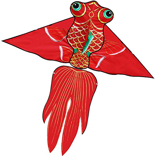 Hengda Kite Fish Kite for Girls Boys Let Fish Swim in Sky Kite with 30m Line