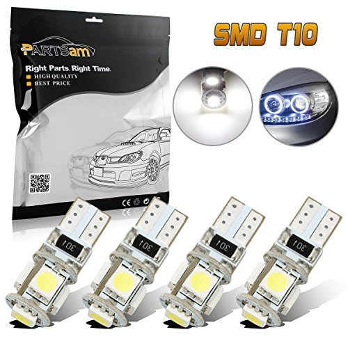 Partsam 4pcs Error Free Eyebrow Eyelid Light Led Bulbs Mercedes Benz C300 C350 C63 AMG